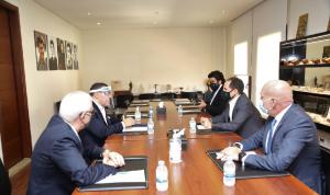 الجميّل عرض وسفير مصر التطورات الداخلية والإقليمية