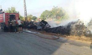 حريق في بؤرة تجميع قطع سيارات في المنية