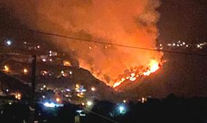 حريق كبير في الوادي الفاصل بين عين يعقوب والشقدوف