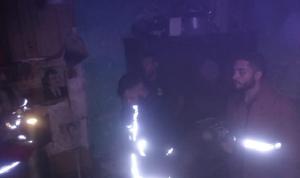 حريق داخل شقة في حي اللجا
