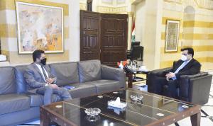 دياب اطلع من غجر على الإجراءات المتخذة في ملف المحروقات