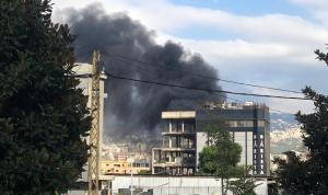 بالصور: حريق مولد كهرباء في المدينة الصناعية في برج حمود