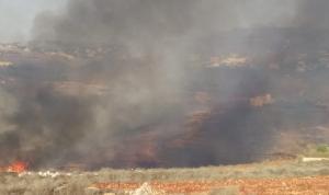 سلسلة حرائق في قرى قضاء النبطية