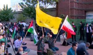 طهران… محتجون يحرقون علم فرنسا وصور ماكرون