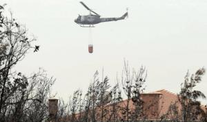 لليوم الثاني.. طوافات الجيش تشارك في إخماد الحرائق (فيديو)