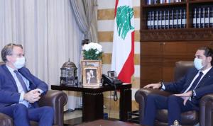 الحريري بحث مع دوريل ملف تشكيل الحكومة