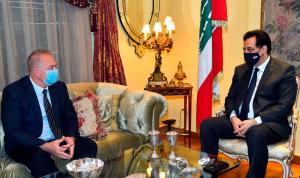 العلاقات الثنائية بين دياب والسفير الروسي
