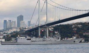 """سفن حربية مصرية تعبر مضيق """"البوسفور"""""""
