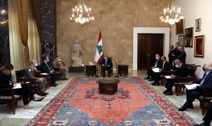 عون: نأمل أن تثمر مفاوضات الترسيم ويسترجع لبنان جميع حقوقه