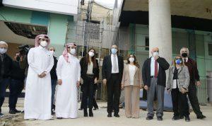عكر وحسن تفقدا ومسؤولين قطريين مستشفى الكرنتينا