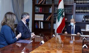 عون: لاستمرار مفاوضات الترسيم