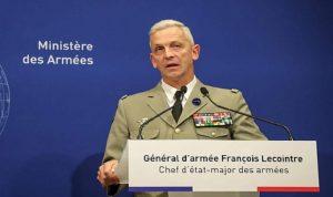 وصول رئيس أركان الجيوش الفرنسية الى بيروت