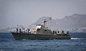 اصطدام سفينتين يونانية وتركية في بحر ايجة