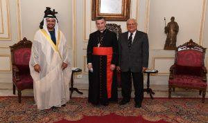 الراعي استقبل الشامسي مودعًا والسفير الجديد لتونس