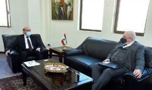 وهبه التقى السفير البريطاني ورئيس بعثة الاتحاد الاوروبي
