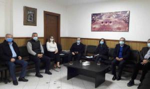 اجتماع في مكتب البزري لتجهيز المستشفى التركي