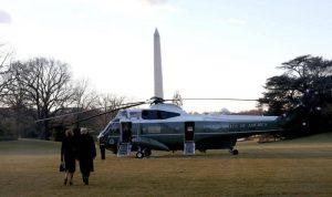 ترامب يغادر البيت الأبيض قبل ساعات من تنصيب بايدن