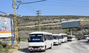 وقفة احتجاجية لسائقي الباصات في حاصبيا