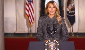 ميلانيا ترامب في رسالة وداع: اختاروا السلم على العنف