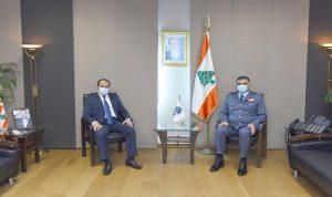عثمان استقبل سفير الإمارات مودعا