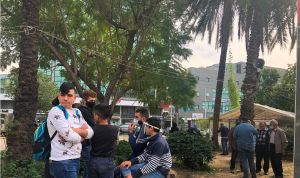 تجمع عند تقاطع ايليا في صيدا احتجاجًا على الغلاء المعيشي
