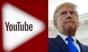 """""""يوتيوب"""" مدد حظر حساب ترامب إلى أجل غير مسمى"""