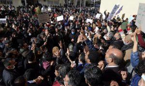 الاحتجاجات مستمرة في تونس ضد الحكومة