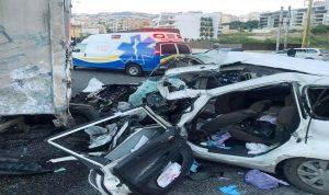 قتيل بحادث سير على أوتوستراد غزير – كسروان