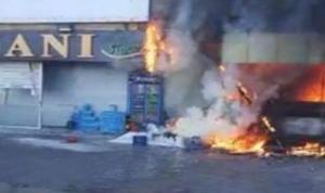 حريق في فرن على طريق الشويفات