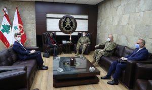 قائد الجيش بحث في علاقات التعاون مع السفيرة الأسترالية