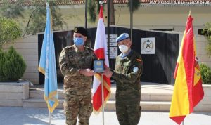 هبة من الوحدة الإسبانية في اليونيفيل للجيش