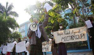 بالفيديو- التظاهرات تعم شوارع ميانمار ضد الانقلاب العسكري