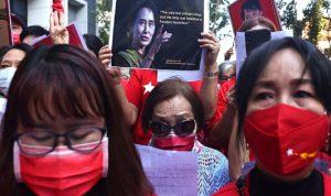 تظاهرات في بورما رفضًا للانقلاب العسكري