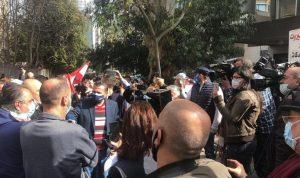 وقفة احتجاجية أمام قصر عدل بيروت
