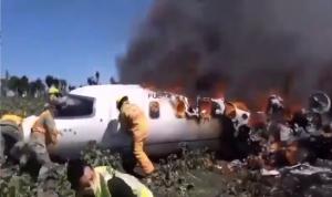 بالفيديو… تحطم مروحية عسكرية في إثيوبيا