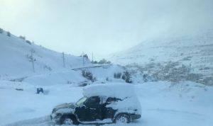 """joyce"" في يومها الثاني… الثلوج غطت المرتفعات وقرى معزولة!"