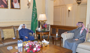 بخاري التقى سفير الكويت في لبنان… هذا ما تم بحثه