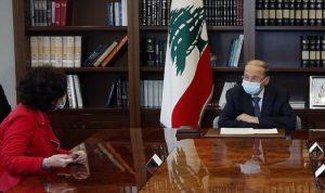 عون: حريصون على تعزيز التعاون بين الجيش واليونيفيل