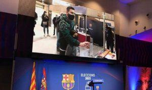 ميسي وآلاف الأعضاء يصوّتون لانتخاب رئيس برشلونة الجديد