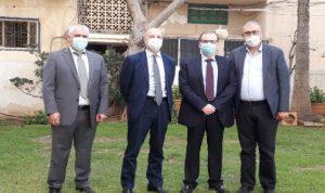 البزري ناقش مع مدير الأونروا الأوضاع الصحية في المخيمات الفلسطينية