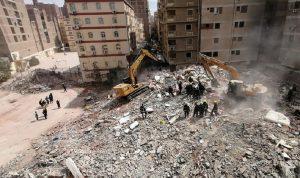 ارتفاع عدد ضحايا انهيار مبنى جسر السويس في مصر