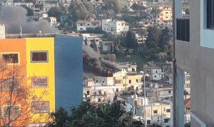احتكاك كهربائي تسبب باندلاع حريق في كفررمان