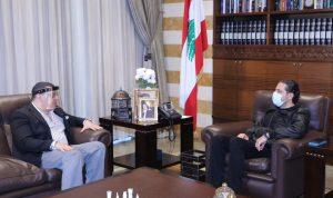 الأوضاع العامة بين الحريري وسفير مصر