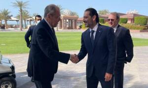 بالصور: الحريري يلتقي لافروف في أبو ظبي