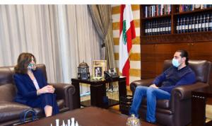 ماذا دار بين الحريري والسفيرة الأميركية؟