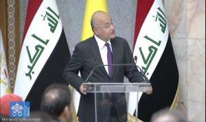 الرئيس العراقي التقى البابا: لن نقبل بأن يمارس الإرهاب باسم الدين