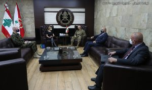 قائد الجيش بحث مع السفيرة السويسرية في علاقات التعاون