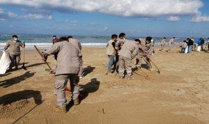 بلدية الخرايب باشرت حملة تنظيف الشاطئ