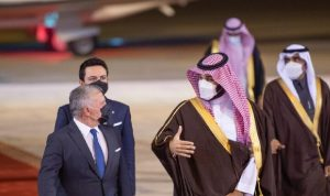 ولي العهد السعودي يستقبل ملك الأردن في الرياض