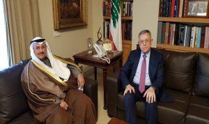السنيورة عرض الاوضاع مع السفير الكويتي